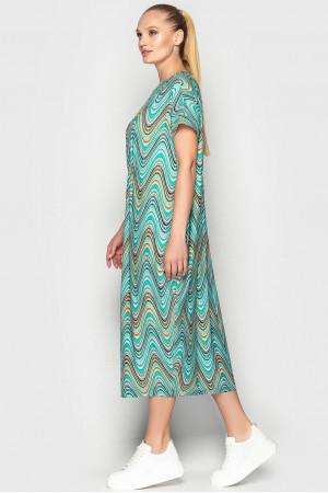 Сукня «Парнас» з бірюзовим принтом