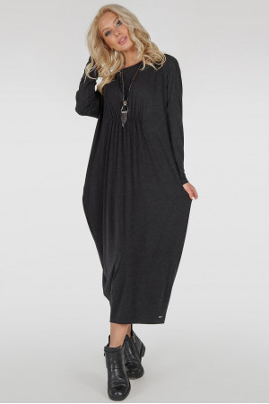 Платье «Авалон» темно-серого цвета