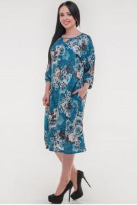 Платье «Саймель» цвета морской волны