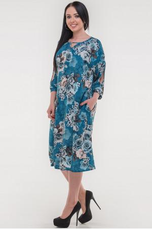 Сукня «Саймель» кольору морської хвилі