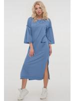 Платье «Никки» серо-голубого цвета