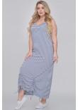 Сукня «Сильва» в біло-джинсову смужку