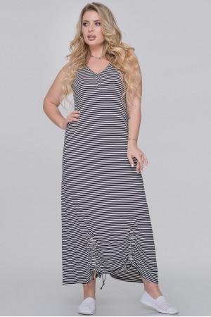 Платье «Сильва» в черно-белую полоску