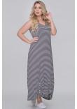 Сукня «Сильва» в чорно-білу смужку