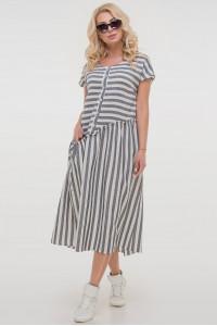 Сукня «Каліпсо» сірого кольору з білим