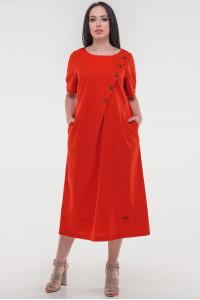 Платье «Касл» красного цвета