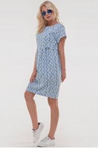 Платье «Харбин» голубого цвета