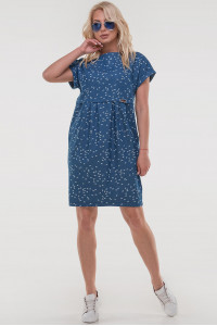 Платье «Синай» цвета джинс