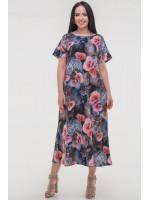 Сукня «Гавор» синього кольору з червоним