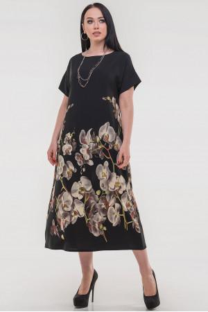 Платье «Каттлея» черного цвета