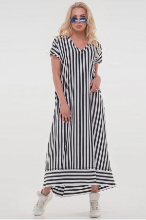 Платье «Блайд» в черно-белую полоску