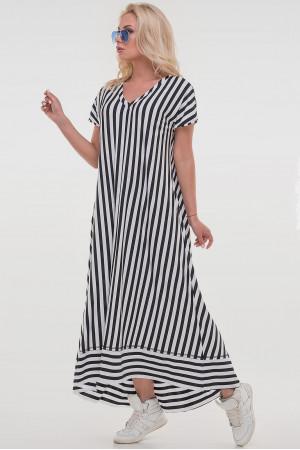 Сукня «Блайд» в чорно-білу смужку
