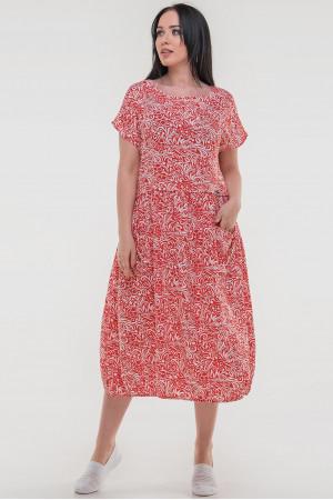 Сукня «Лівіка» червоного кольору з білим