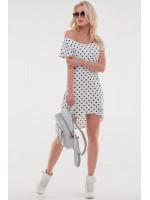 Сукня «Сула» білого кольору з чорним