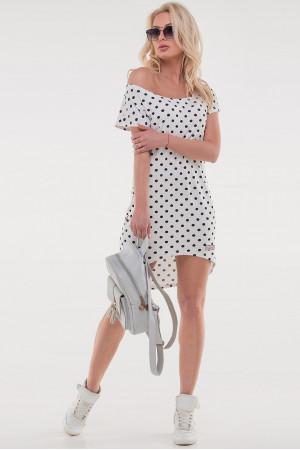 Платье «Сула» белого цвета с черным