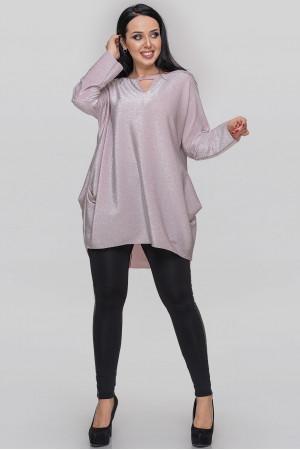 Туніка «Сірша» сріблясто-рожевого кольору