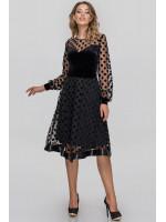 Платье «Винон» черного цвета