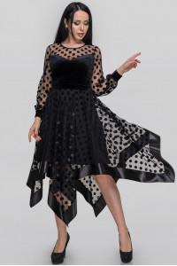 Платье «Вирджин» черного цвета