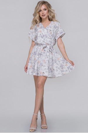 Сукня «Меркурі» білого кольору с сірим