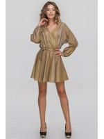Платье «Меркури» золотистого цвета