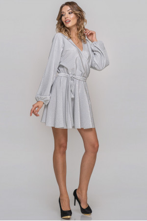 Платье «Меркури» серебристого цвета
