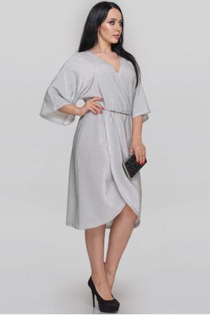 Платье «Энигма» серебристого цвета