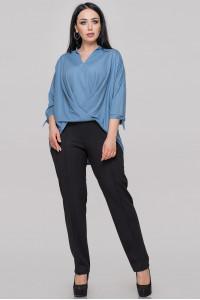 Блуза «Роксетт» сіро-блакитного кольору