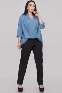 Блуза «Роксетт» серо-голубого цвета