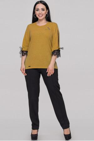 Блуза «Люсія» гірчичного кольору