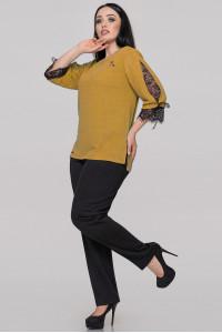 Блуза «Люсия» горчичного цвета
