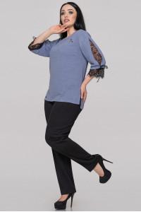 Блуза «Люсия» серо-голубого цвета