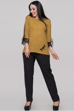 Блуза «Нейлі» гірчичного кольору