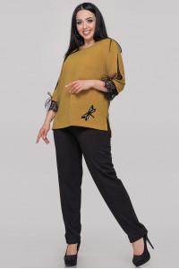 Блуза «Нэйли» горчичного цвета