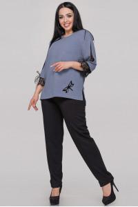 Блуза «Нэйли» серо-голубого цвета