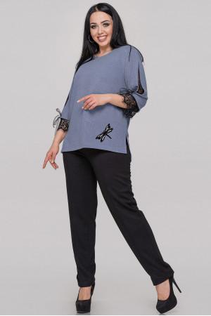 Блуза «Нейлі» сіро-блакитного кольору