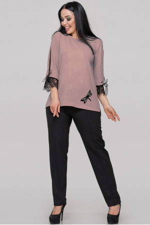 Блуза «Нейлі» кольору пудри