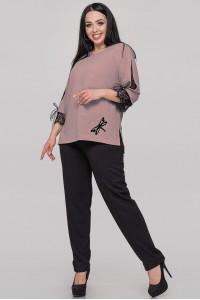 Блуза «Нэйли» цвета пудры