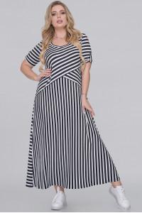 Сукня «Галатея» в чорно-білу смужку