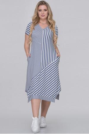 Платье «Эжени» в джинсовую полоску