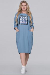 Сукня «Іветта» сіро-блакитного кольору