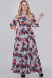 Платье «Эовин» серого цвета с розами