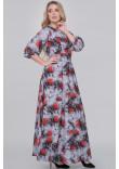 Сукня «Еовін» сірого кольору з трояндами