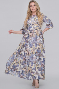 Сукня «Еовін» сірого кольору з лілеями