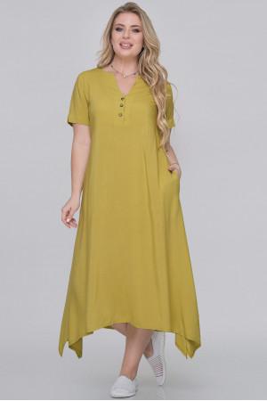 Платье «Магда» горчичного цвета