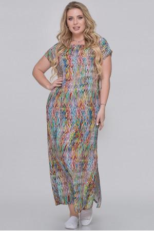 Платье «Тоня» бордового цвета с лимонным