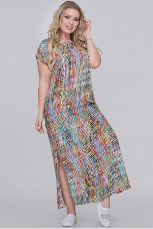 Сукня «Тоня» бордового кольору з лимонним