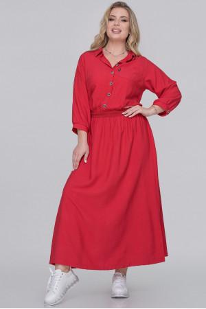 Платье «Вилея» красного цвета