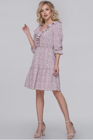 Сукня «Гленн» кольору фрезії з сірим