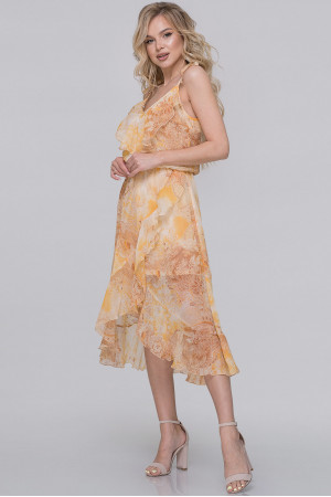 Платье «Фрейя» с горчичным принтом