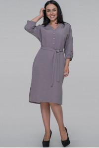 Платье «Бернис» серо-сиреневого цвета